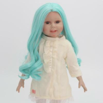 "2 Set Fashion Gradient Curly Hair Wig for 18"" American Girl Dolls DIY Making"