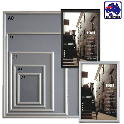 A0 A1 A2 A3 A4 Aluminum Snap Clip Wall Poster Frame Sign Holder Elevator WRA0001