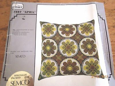 ~SEMCO QUICK-STITCH TAPESTRY - CUSHION - KIT No. 7597 - UNUSED~