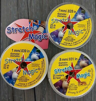 25m Genuine Stretch Magic Elastic Cord - 0.7mm 0.8mm 1mm - Clear Strong Stretchy