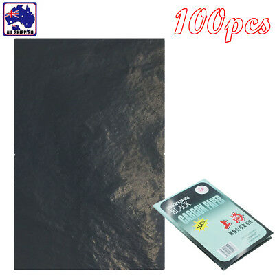 100 Sheets A4 Black Carbon Paper Copier Hectograph Repro Transfer SPA000030
