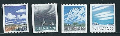 Sweden Cloud formations, weather 1989 set of 4   MUH