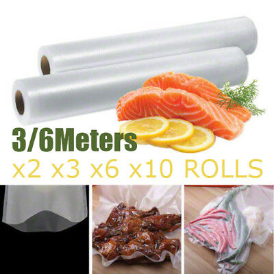 2 3 6 10 Vacuum Food Sealer Saver Seal Bag Storage Rolls Commercial Heat Grade