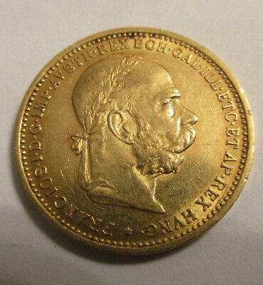 RARE 1896 20 Corona gold coin , High Grade Coin