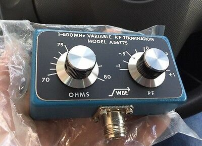 (NEW) VARIABLE RF TERMINATOR LOAD 1-600MHz WBE A56T75