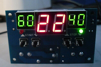 -9-99°c DC 12V digital LED display termostato Temperature controller With Sensor