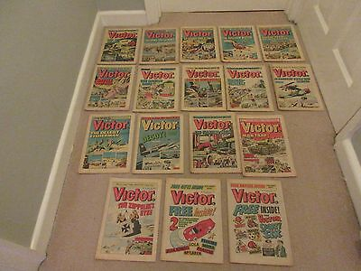 VICTOR COMICS X 17 FROM 1975, - Good/Fair condition/ WARLORD-Job Lot