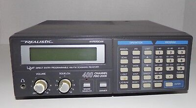 Realistic Pro-2006 400 Channel Scanning Receiver - Works Great