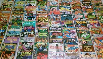HUGE Comic Book Lot 75 Marvel DC Indy + more FREE SHIPPING Bagged VF - NM