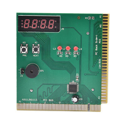 4-Digital Card PC Test Motherboard POST Analyzer Computer Power Supply Tester、AU