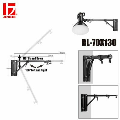 JINBEI Adustable Wall Ceiling Mount Light Stand 170° Up Down / 160° Left Right