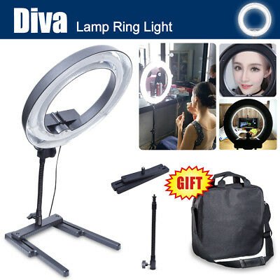 Dimmable Diva 400W 34cm Table Top Ring  Beauty Make Up Selfie Video Photo