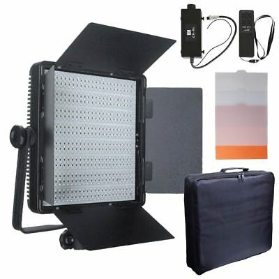 CN-600SA 600 LED Sony V-Lock Dimmer Video Light Panel + Remote Controller + Bag