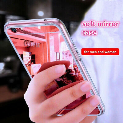 For Xiaomi Redmi Note 4/4X 5A Soft Silicone Mirror Back Clear Bumper Case Cover