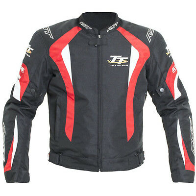 RST R-16 Isle of Man TT Motorcycle Motorbike Textile Sports Jacket Red