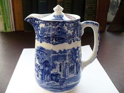 19th c Blue & White Water Jug - George Jones & Sons Abbey Pattern