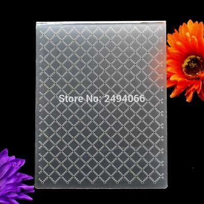 Grid Plastic Embossing Folder Scrapbook Album Card Template Craft Decor DIY Tool