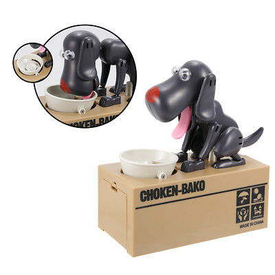 Hungry Dog Stealing Coin Bank Electronic Collecting Saving Money Box Piggy Bank