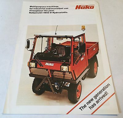 HAKO Multipurpose Machines Original 1980s Brochure With Lots Of Information