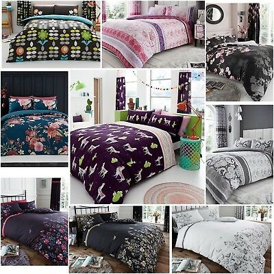 Luxury Printed Duvet Cover Set Quilted Poly cotton With Pillow Cases All Size
