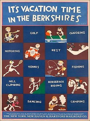 Vacation in The Berkshires Massachusetts U.S. Travel Advertisement Poster Print
