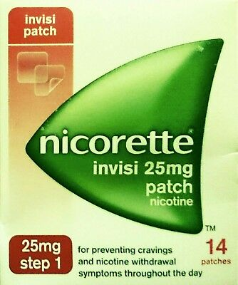 Nicorette  25mg  (  14 PATCHES  )  Step 1  Nicotine Replacement Stop Smoking Aid