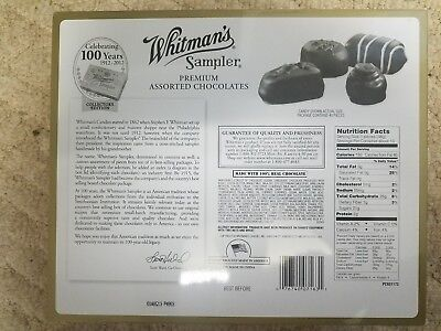 "9#  Collectible 100th Anniversary 10 3/4"" X 9"" Whitman's Sampler TIN Hinged Lid"