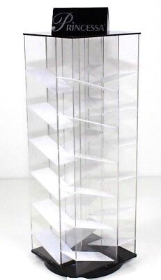 Black & Clear Acrylic Spinning Makeup / Retail Display / Showcase / Holder