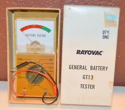 Vintage Rayovac General Battery Tester GT13 New Old Stock ~155