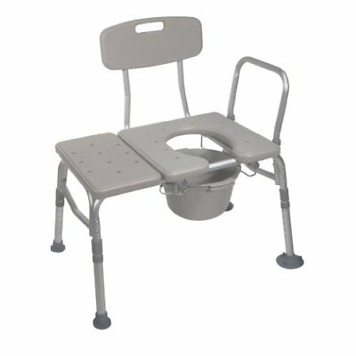 Transfer Chair Bench Commode Toilet Bath Room Shower Tub Handicap Padded Seat