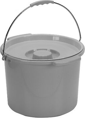 Commode Bucket, 12 Quart with Handle and Cover, Drive 11108, NEW - Each