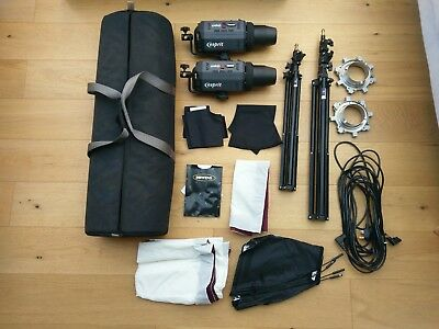 Bowens Esprit 500 + 250 Lights with Softboxes - Studio lighting kit with bag