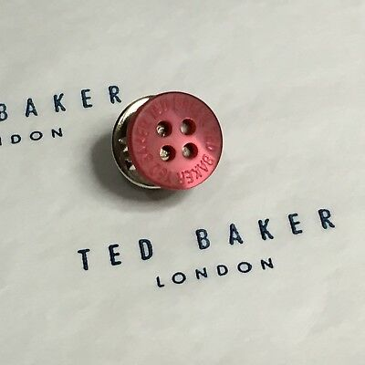 5c2ec878f05f Mens TED BAKER Tie Lapel Pin Tack Magenta MOTHER PEARL Shirt Button Gift  Ideas