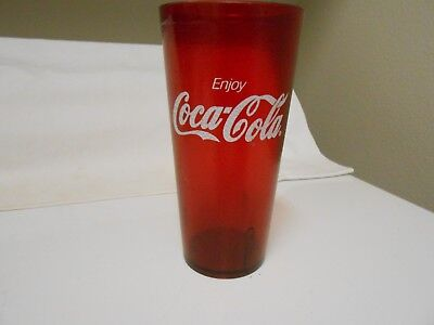 Coke Coca Cola Ruby Red Plastic Glass Tumbler 20 Oz Restaurant Cup Texture (3)