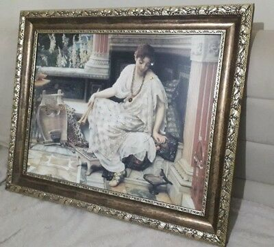 Vintage Antique Ornate Gold Gilt Wooden Picture Large Frame Stunning painting