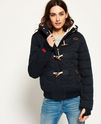 Superdry Mujer Cazadora Microfibre Toggle Puffer Navy