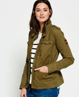 Superdry Mujer Cazadora Rookie Field Swamp