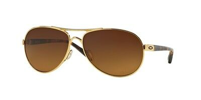 New Authentic! Oakley Women Feedback Polished Gold/Vr50 brown gradient
