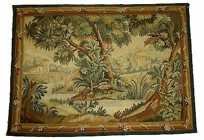 A Beautiful Antique Tapestry with Pheasants and Parrot