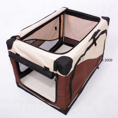 Lightweight Foldable Portable Pet Dog Transport Crate Carrier XL  - 106x71x68cm
