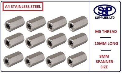 WASHERS Rod Studding 16mm FULL NUTS M16 A4 MARINE STAINLESS Threaded Bar