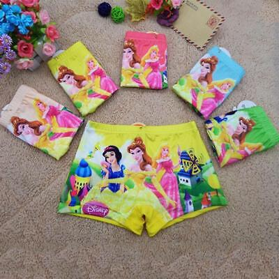 Pack Of 2 Girls Princess Boxer Shorts Briefs Knickers Underwear Age 4 - 6  7 - 9