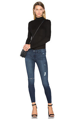 93bc9fa3362 BLACK ORCHID Noah Ankle Fray Distressed Skinny Jeans Nightingale Blue 26  #362