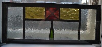 2 British leaded light stained glass window panels in doubleglazed units. R694e