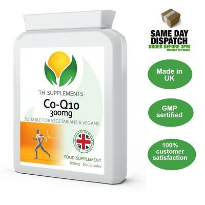 Co Enzyme Q10 CoQ10 300mg 60 Capsules - Naturally Fermented Trans Form UK Made