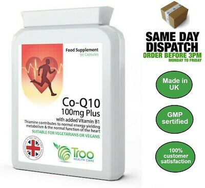 Co Enzyme Q10 CoQ10 100mg 90 Capsules Energy Heart Support