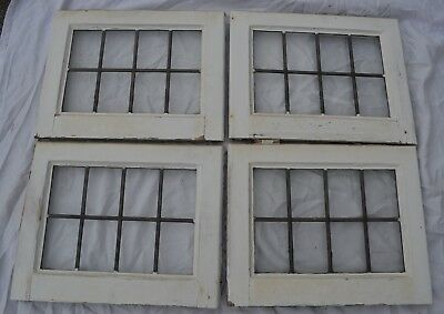 4 British plain leaded light stained glass windows. R740. WORLDWIDE DELIVERY!!!