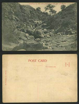 India Old Postcard Looking Up The Glen from above Fall, MATHERAN Rocks Mountains