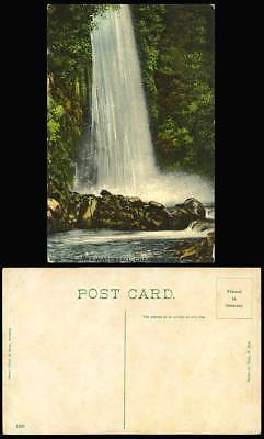 India Old Colour Postcard The Waterfall Chakrata Water Fall Photo by Thos H Bell