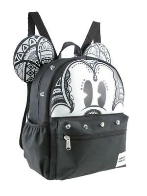 "Leather Mickey Mouse 12"" Silver Stud Small/Mini Backpack"